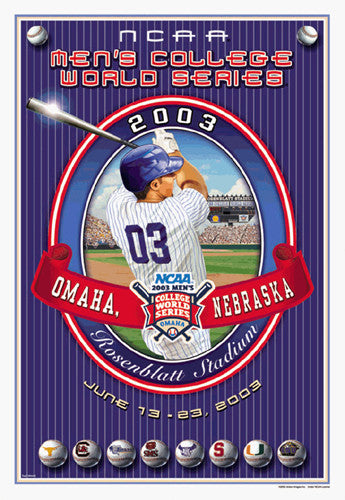 NCAA Baseball College World Series 2003 Official Poster - Action Images