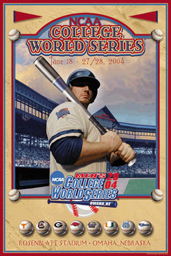 NCAA Baseball College World Series 2004 Official Event Poster - Action Images