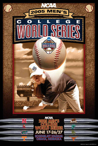NCAA Baseball College World Series 2005 Official Poster - Action Images Inc.