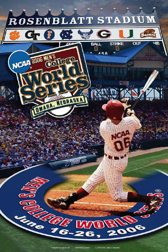 NCAA Baseball College World Series 2006 Official Poster - Action Images
