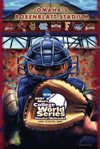 NCAA Baseball College World Series 2007 Official Poster - Action Images