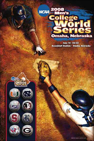 NCAA Baseball College World Series 2008 Official Poster - Action Images