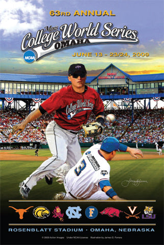 NCAA Baseball College World Series 2009 Official Poster - Action Images