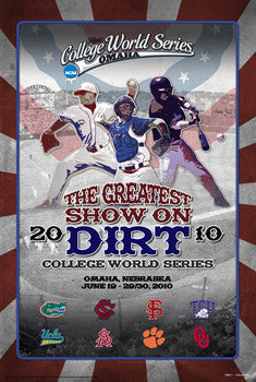 NCAA Baseball College World Series 2010 Official Poster - ProGraphs
