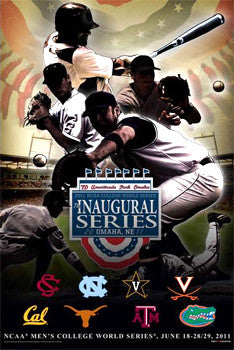 NCAA Baseball College World Series 2011 Official Poster - ProGraphs