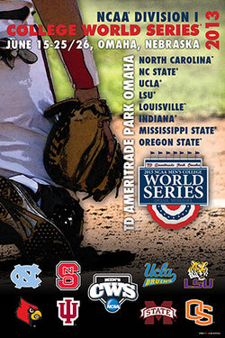 NCAA Baseball College World Series 2013 Official Event Poster - ProGraphs