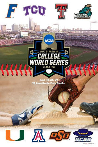 NCAA Baseball College World Series 2016 Official Event Poster - ProGraphs Inc.