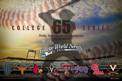 "NCAA Baseball College World Series ""65 Years"" 2014 Official Event Poster"