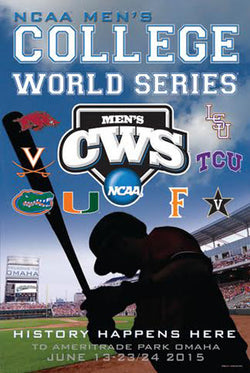 "NCAA Baseball College World Series ""Big Sky"" 2015 Official Event Poster - ProGraphs"