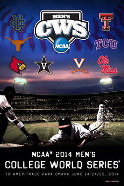 NCAA Baseball College World Series 2014 Official Event Poster - ProGraphs