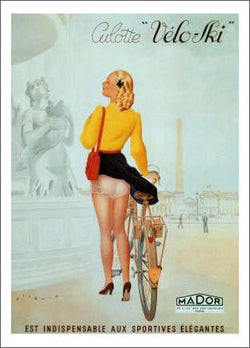 "Cycling ""Culotte Velo-Ski"" c.1930 Vintage Advertising Poster Reprint - Editions Clouets"