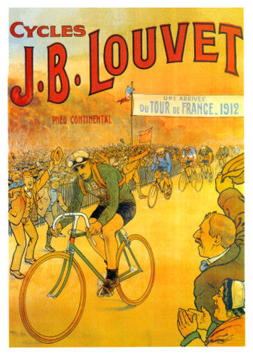 Cycles J.B. Louvet Vintage Poster Reprint (Tour de France 1912) - Editions Clouets