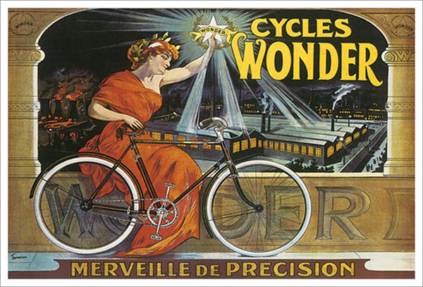 "Cycles Wonder ""Merveille de Precision"" (c.1923) by Francisco Tamagno Vintage Poster Reprint"
