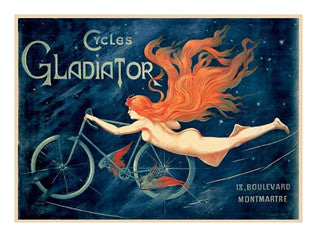 Cycles Gladiator Vintage Poster Reprint (c.1895) - Teleky Inc.