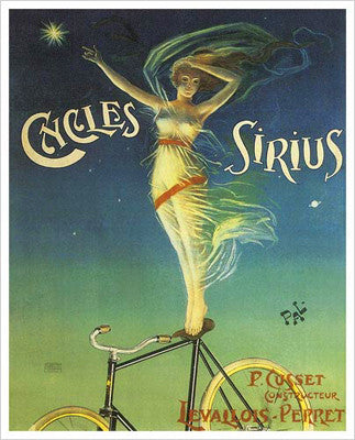 "Cycles Sirius ""North Star"" (c.1899) Vintage Poster Reprint"