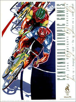 "Atlanta 1996 Olympics Cycling ""Velodrome"" Official Event Poster - Fine Art Ltd."