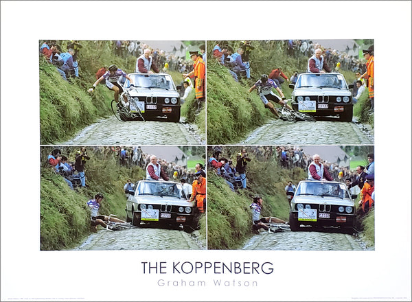 "Cycling Tour of Flanders ""The Koppenberg"" (Jesper Skibby 1987) Classic Poster Print - Graham Watson"