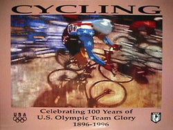 USOC Cycling '96 Poster - Fine Art Ltd.