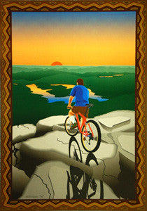 "Bicycle Riding ""Cycling Heaven"" Art Poster Print - McIntosh 1996"