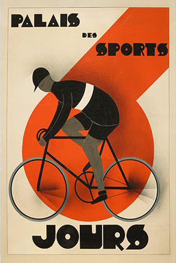 "Cycling ""Six-Day Racing"" (6 Jours, Palais des Sports) c.1930 Vintage Poster Reprint"