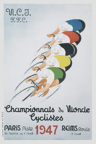 1947 Cycling World Championships Vintage Poster Reprint - The Horton Collection