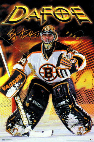 "Byron Dafoe ""Stopper"" Boston Bruins Poster - Costacos 1999"
