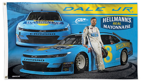 Dale Earnhardt Jr. NASCAR 2019 #8 Throwback Chevy Camaro Huge 3' x 5' Banner Flag - Wincraft Inc.