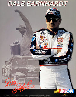 "Dale Earnhardt ""Silver and Black"" NASCAR Racing Classic Commemorative Poster - Time Factory"