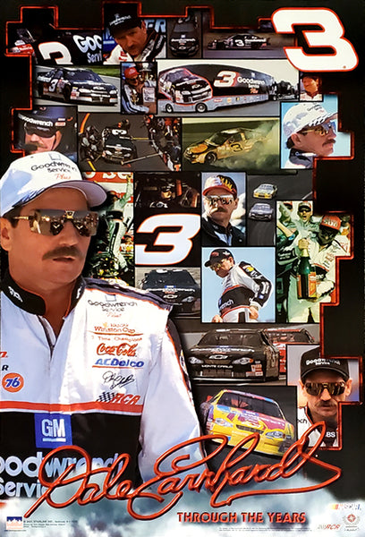 "Dale Earnhardt ""Through The Years"" NASCAR Racing Career Commemorative Poster - Starline 2001"
