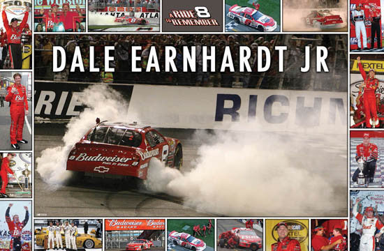 "Dale Earnhardt Jr. ""#8 Forever"" Commemorative NASCAR Poster - Time Factory 2007"