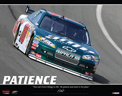 "Dale Earnhardt Jr. ""Patience"" NASCAR MotorVational Poster - Time Factory 2009"