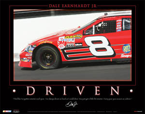 "Dale Earnhardt Jr. ""Driven"" #8 Bud Car NASCAR Racing Poster - Time Factory 2006"