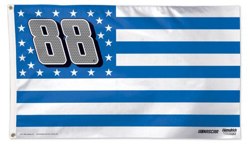 "Dale Earnhardt Jr. ""Stars and Stripes"" NASCAR #88 Official HUGE 3'x5' Deluxe-Edition FLAG - Wincraft"