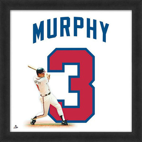 "Dale Murphy ""Number 3"" Atlanta Braves FRAMED 20x20 UNIFRAME PRINT - Photofile"