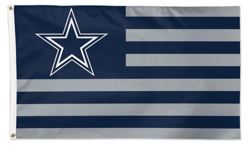 "Dallas Cowboys ""Americana"" Official NFL Football HUGE 3'x5' Deluxe-Edition Team FLAG - Wincraft"