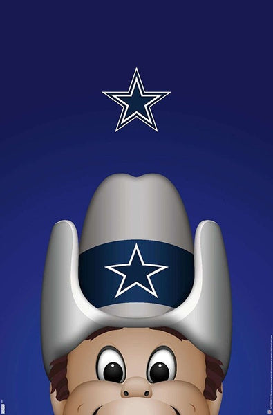 "Dallas Cowboys ""Rowdy Style"" NFL Football Theme Art Poster - S. Preston/Trends Int'l."