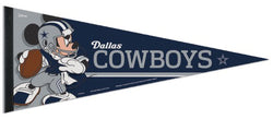 "Dallas Cowboys ""Mickey Mouse QB Gunslinger"" Official NFL/Disney Premium Felt Pennant - Wincraft Inc."