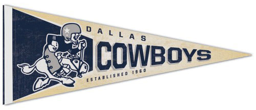 Dallas Cowboys NFL Retro 1960-1970 Style Premium Felt Collector's Pennant - Wincraft Inc.