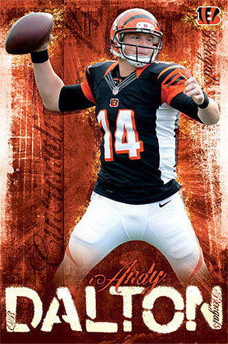 "Andy Dalton ""Superstar"" Cincinnati Bengals Official NFL Football Action Poster - Costacos 2013"