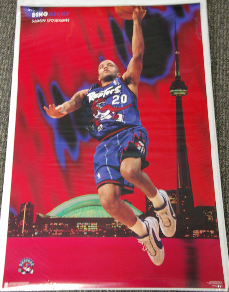 "Damon Stoudamire ""Toronto Proud"" Toronto Raptors NBA Basketball Poster - Costacos 1996"