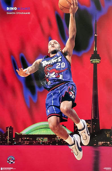 "Damon Stoudamire ""Dino-Might"" Toronto Raptors NBA Action Poster - Costacos 1996"