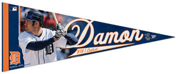 Johnny Damon Detroit Tigers Premium Felt Collector's Pennant (LE /2010) - Wincraft