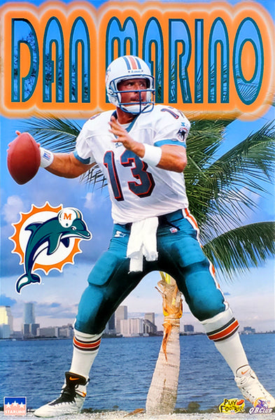 "Dan Marino ""Pure Florida"" Miami Dolphins NFL Football Action Poster - Starline Inc. 1997"