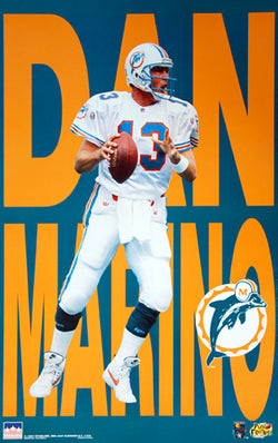 "Dan Marino ""Big Time"" (1997) Miami Dolphins Poster - Starline Inc."