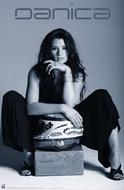 "Danica Patrick ""Slick"" (B&W) Racing Superstar Poster - Time Factory"