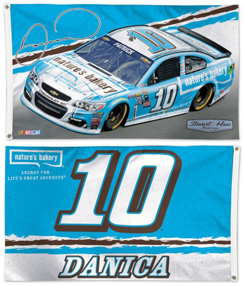 Danica Patrick Nature's Bakery #10 Official NASCAR Premium 2-Sided 3'x5' Flag - Wincraft