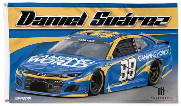Daniel Suarez NASCAR Camping World #99 Official HUGE 3'x5' Deluxe-Edition FLAG - Wincraft