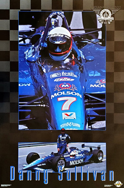 Danny Sullivan Indy 500 Champion Series Racing Superstar Poster - Costacos Brothers 1994