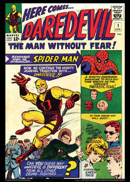 Daredevil #1 Vintage Marvel Comics Cover Poster Print - Asgard Press