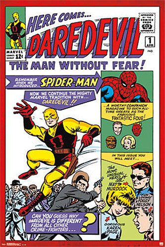 Daredevil #1 Vintage Marvel Comics Cover POSTER Reprint - Trends International